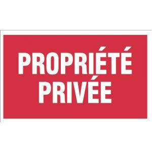 Novap Panneau rigide 330 x 200 mm 404 propriete privee