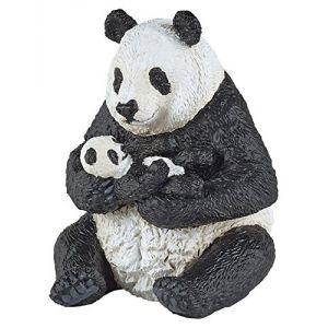 Papo 50196 - Panda assis et son bébé