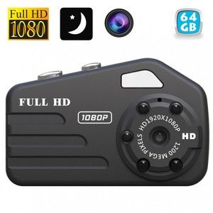 Yonis Caméra espion miniature HD 1080P vision nocturne mini photo 12MP 64 Go