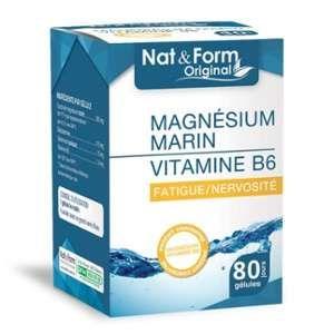 Nat & Form Magnésium marin Vitamine B6 (80 gélules)