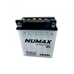 Numax Batterie moto Standard avec pack acide YB12AL-A 12V 12Ah 150A