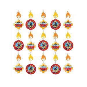 6 décorations sur fil à suspendre Sam le Pompier