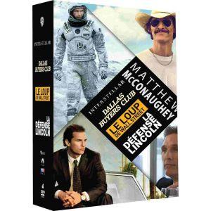 Coffret Matthew McConaughey 4 DVD: Interstellar + Dallas Buyers Club + Le loup de Wall Street + La défense Lincoln