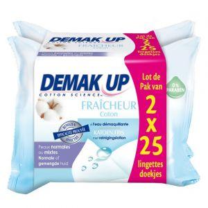 Demak Up Fraîcheur Coton - Lingettes démaquillantes peaux normales ou mixtes