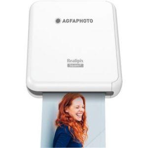 AgfaPhoto Imprimante photo portable Realipix Square P Blanche