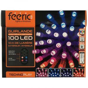 Guirlande lumineuse télécommandée 10 m Multicouleur 100 LED