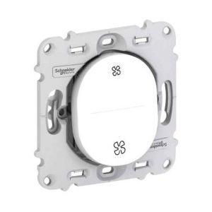 Schneider Electric Commande VMC Ovalis sans plaque - Poussoir