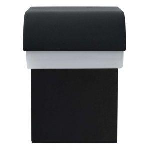 VidaXL Applique murale LED d'extérieur 9 W Noir Ovale