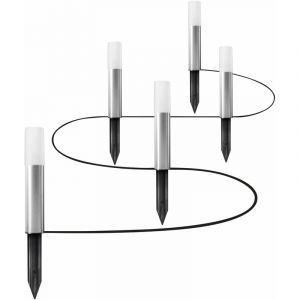 Ledvance Adapté à sol | SMART+ GARDEN POLE / 3 |80 W | RGBW | 3000 K | stainless steel | IP65