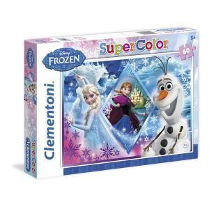 Clementoni Puzzle La Reine des Neiges - Elsa, Anna et Olaf 60 pièces