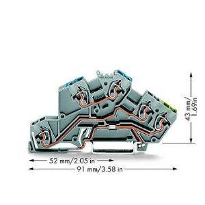 Wago 775-646 - Borne à étages N/L/PE 50 pc(s)