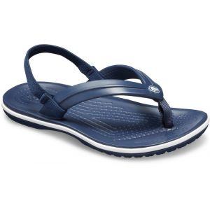 Crocs Sandales enfant CROCBAND STRAP FLIP K - Couleur 24 / 25 - Taille Bleu