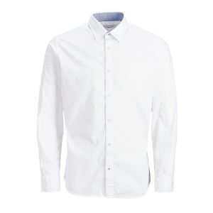 Jack & Jones Plain Poplin L White / Slim Fit - White / Slim Fit - L