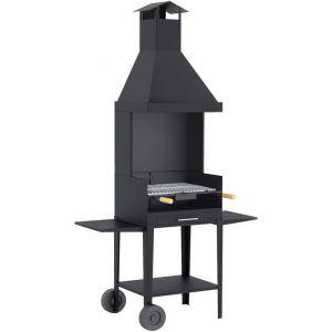 Fm BV-12 - Barbecue charbon bois sur chariot