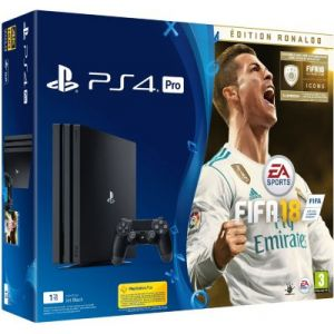 Sony Pack PS4 Pro 1 To Noire + FIFA 18