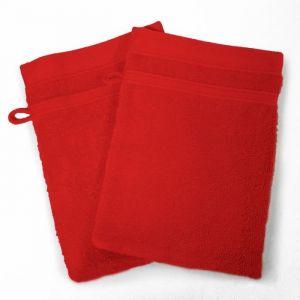 Vitamine - Lot de 2 gants de toilette 450 g - rouge