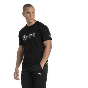 Puma T-Shirt MERCEDES AMG PETRONAS Logo pour Homme, Noir, Taille S  