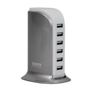 Port designs 202079 - Chargeur USB mural 6 ports