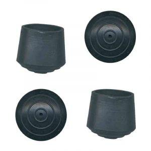 PVM Embout de meuble caoutchouc noir Ø 12 mm - Lot de 8