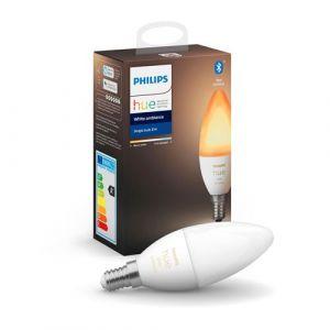 Philips Ampoules connectés White Ambiance E14 flamme 6W x2