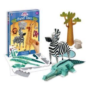 Sentosphère Paper toys : Animaux de la savane