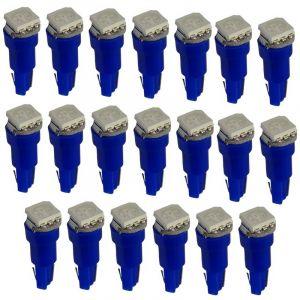 Aerzetix : 20x Ampoules T5 24V LED SMD bleu pour tableau de bord camion semi-remorque
