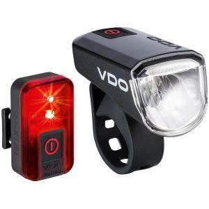 VDO ECO Light M30 - Kit éclairage vélo - rouge/noir Sets de lampes