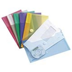 Tarifold 6 enveloppes chéquier en polypropylène (13,5 x 25 cm)