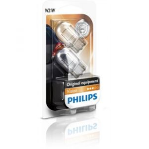Philips 2 Ampoules Vision W21W 21W 12 V