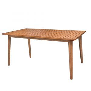 Lynco Table de jardin rectangulaire acacia - Marilyn