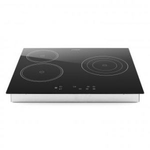 Klarstein Virtuosa - Plaque de cuisson encastrable vitrocéramique & verre 3 zones