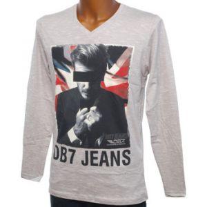 Db7 Tee shirt manches longues Juvamine gris  davbek Gris 56871