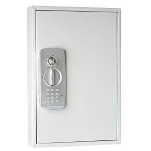Wedo 102 63237 - Armoire à clés, fermeture électronique, pour 32 clés, gris clair