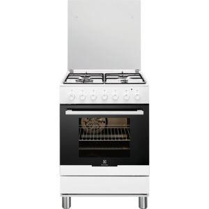 REx RKK61300OW - Cuisinière à gaz 4 brûleurs avec four électrique
