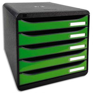 Exacompta 3097295D - BIG-BOX PLUS, coloris noir/vert pomme brillant