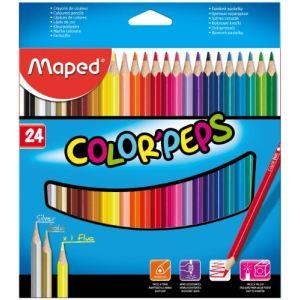 Maped 24 Crayons de couleur Color'peps assortis