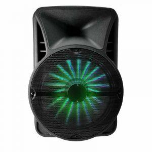 "My deejay Enceinte Sono Active 15"" sur Batterie à LEDs RGB - USB/Bluetooth - Compatible APP - 700W + Micro VHF + Micro Filaire SUBLIM15"