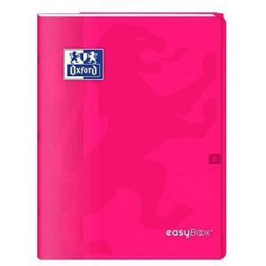 Oxford Cahier Easybook agrafé - 17 x 22 cm - 96p seyès - 90g - Rose