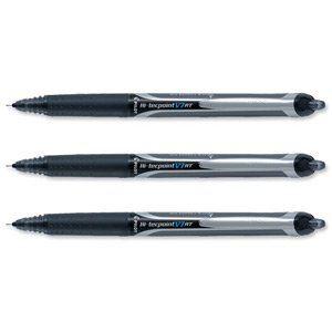 Pilot 12 stylos roller hi-tec V7 RT noires (0,5 mm)
