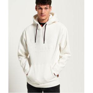 Superdry Vintage Logo Applique Hood Sweat-Shirt À Capuche, Blanc (Off White 3ow), Large Homme