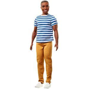 Mattel Ken Fashionistas - Afro Américan Polo rayé et pantalon jaune