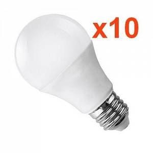Silamp Ampoule E27 LED 18W 220V A80 (Pack de 10) - couleur eclairage : Blanc Froid 6000K - 8000K