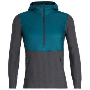 Icebreaker Sweatshirts Descender Hybrid - Poseidon / Monsoon - Taille XL