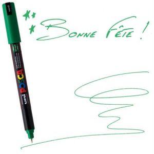 Posca PC-1MR VF - Marqueur peinture 1MR, pointe calibrée 0,7 mm, vert foncé