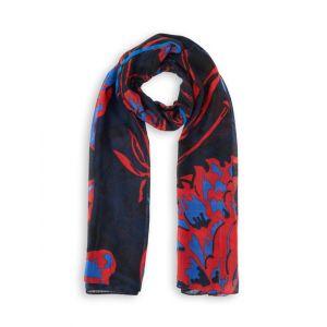 Desigual Foul_be Blossom Echarpe, Noir (Blue Moon 2051), Unique (Taille Fabricant: U) Femme