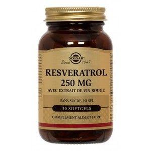 Solgar Resvératrol 250 mg avec extrait de vin rouge