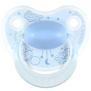 Noukie's Sucette physiologique en silicone Paco bleu (0-6 mois)