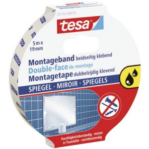 Tesa Ruban double face de montage transparent 5m:19mm (Par 10)