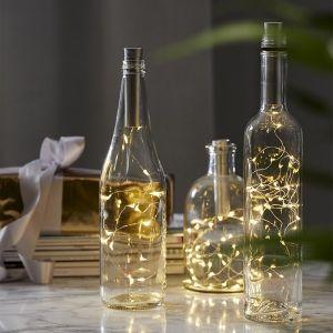 Guirlande lumineuse LED Dew Drops à piles, 200 cm