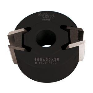 Diamwood Platinum Porte-outils de toupie à profiler avec contre-fers D. 100 x Al. 30 x Ht. 50 mm Z 2